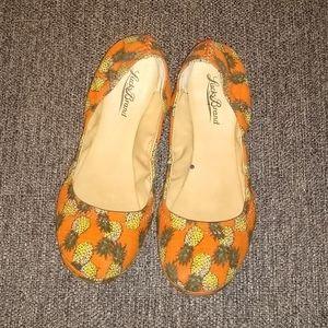 Orange Pineapple Ballet Flats